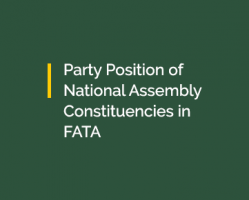 Party Position of National Assembly Constituencies in FATA