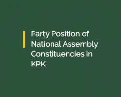 Party Position of National Assembly Constituencies in KPK