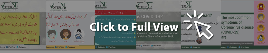 Covid-19 messages by pakvoter elections politics voters information portal Pakistan